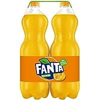 Fanta - Naranja, Refresco con gas, 2 l (Pack de 2), Botella de plástico