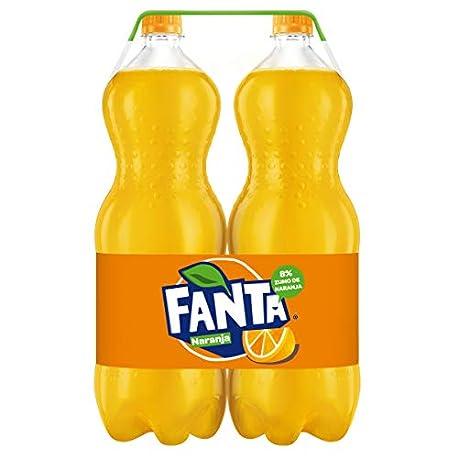 Fanta Go Naranja Refresco con gas 2 l Pack de 2 Botella de pl stico