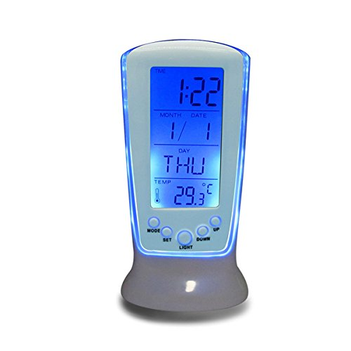 EgBert Led Digital Wecker Backlight Musikkalender Thermometer Uhr Desktop-Uhr