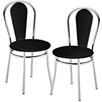 Nowy Styl 2 set comfort restaurant seating Bistro leatherette chairs black 4L-CR-V 14N