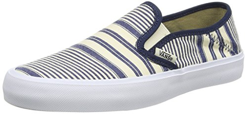 Vans Slip-on Sf Scarpe da Ginnastica Basse, Donna Multicolore (multi Stripe/dress Blues)