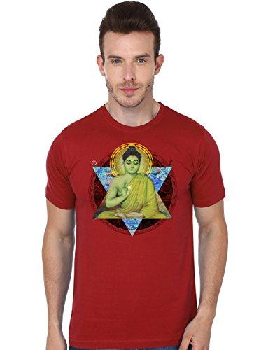 Beyond Colours Men T-Shirt Meditation Red Large