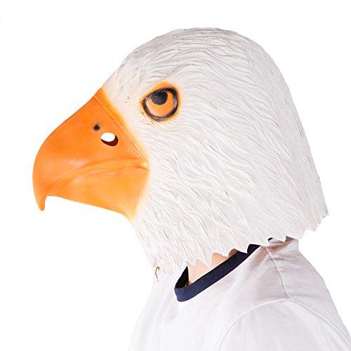 Bodysocks Latex Gummi Adler Tier Halloween Kostüm Maske
