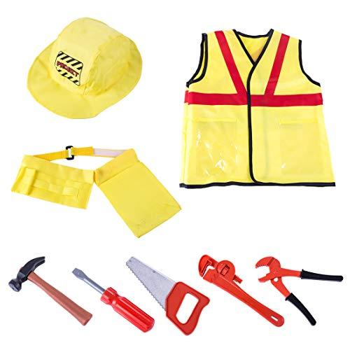 iter Kostüm Outfit mit Werkzeug ,Kinder Rollenspiel Geschenke Für Jungen Mädchen ()