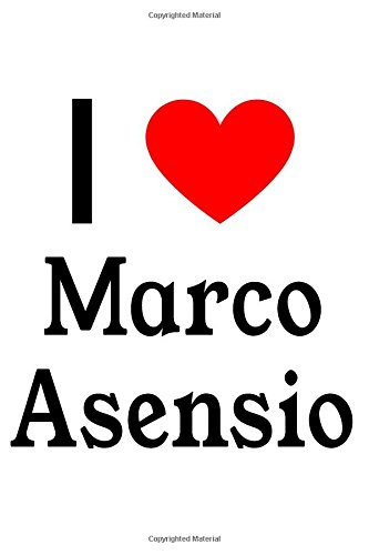 I Love Marco Asensio: Marco Asensio Designer Notebook por Perfect Papers