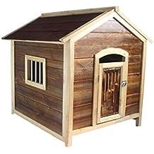 Lluvia al Aire Libre Casa de Perro Casa de Madera Maciza para Mascotas Villa Invierno cálido