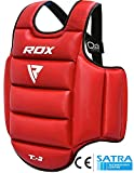 RDX TKD Chest Guard Reversible MMA Body Protector Boxing Martial Arts Rib Shield