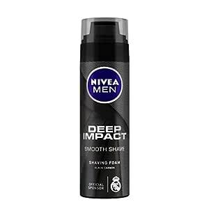 NIVEA MEN Shaving, Deep Impact Smooth Shaving Foam, 200ml