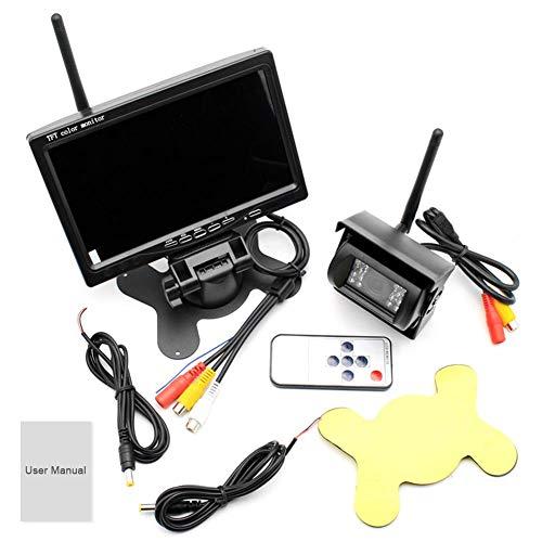18-LED-Wireless-Rückfahrkamerasysteme, 7-Zoll-Wireless-Kit/Rückfahrsystem/Bus Wireless-Rückfahrbildschirm, wasserdicht und bequem - Infrarot-system Security-kameras