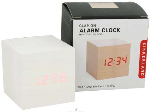 CLAP-ON LIGHT WOOD ALARM CLOCK