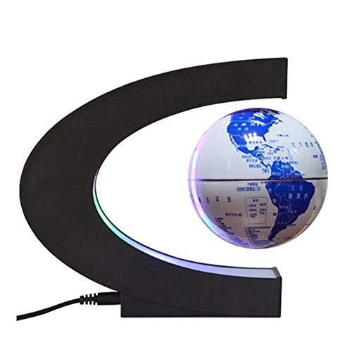 Schwimmende Globen C-förmige Anti-Schwerkraft-Globus Magnetic Suspension Dekoration Home Decoration Office - Blau und Weiß Porzellan - Modell 4 Zoll - 4in 1 Erweiterung