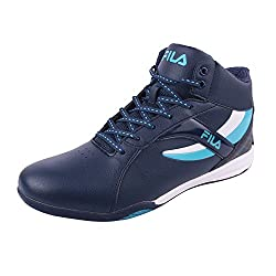 Fila Men Peach Blue White Synthetic Lifestyle Shoes