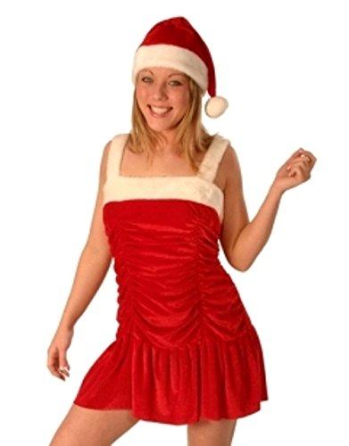 Christmas Fancy Dress Costume Santa Miss Velvet Light Up - Tutu Lightup Für Erwachsenen Kostüm