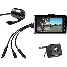 ETRONG Cámara de salpicadero para Motocicleta, Impermeable, cámara de grabación de vídeo de Doble