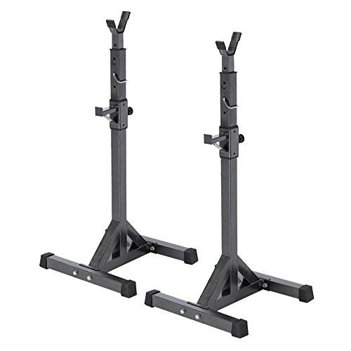 Docooler Supporti Squat in Acciaio Regolabile Cavalletti Bilanciere Staccabile per Esercizio Squat Rack 137-167cm