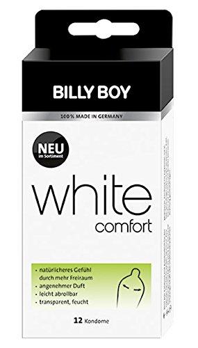 Billy Boy White Comfort Kondome Transparent 12er
