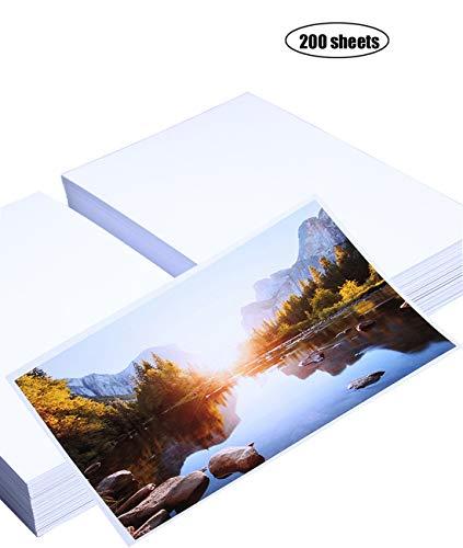 Yeelan 200 hojas papel fotográfico brillante tarjeta