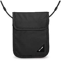 PacSafe Coversafe X75 anti-theft RFID blocking neck pouch Brustbeutel, 17 cm, Schwarz (Black 100)