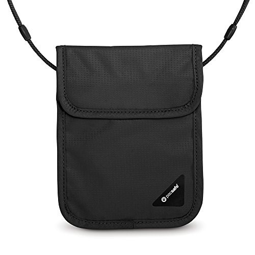 PacSafe Coversafe X75 Anti-Theft RFID Blocking Neck Pouch Brustbeutel, 17 cm, Schwarz (Black 100)