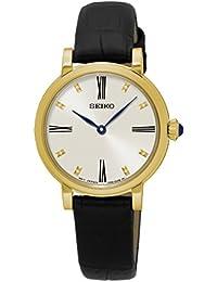 Seiko Damen-Armbanduhr Analog Quarz Leder SFQ814P2