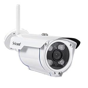 Überwachungs-Kameras LESHP HD 1.0 Megapixel 1280x720P Wlan IP Überwachungskamera, Email, die mobile Benachrichtigung, Remote-Wiedergabe, IR Nachtsicht, Bis zu 128GB Wireless Security Plug & Play Smart-Kamera