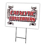 catalizzatori 30,5x 40,6cm in plastica Stake Outdoor yard Sign Coroplast finestra
