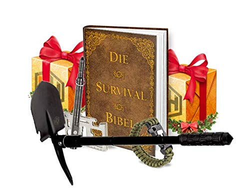 KrisenHeld Survival Kit mit Survival Buch - Survival Ausrüstung - Survival Set mit Survival Axt, Survival Pen und Survival Armband -