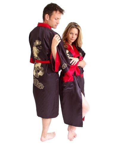 Dragon réversible kimono Rouge et Noir