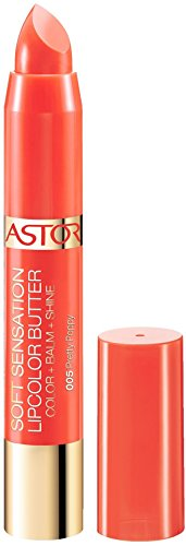 Verbesserung Der Lippenfarbe (ASTOR Soft Sensation Lipcolor Butter, Fb 005 Pretty Poppy, 1er Pack (1 x 5 g))