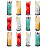 RB Incassable Petit Verres Tubes Long Drink Premium Plastique 22cl, Lot de 12