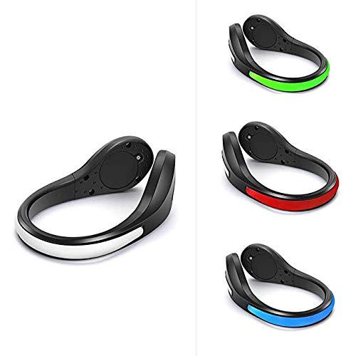 Lucaswang[Confezione da 2 luci di Sicurezza a LED per corridori, Clip Riflettenti per Scarpe con 2 modalità per Corsa Notturna, Jogging, Passeggiate, Spinning o Ciclismo, 1 Paio, Red