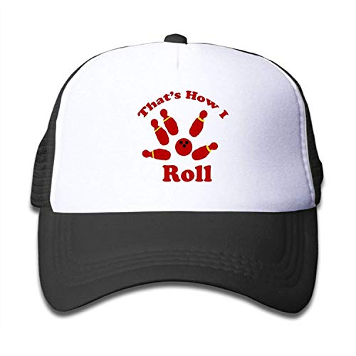 zhong xuyi That's How I Roll Bowling Boys-Girl Caps Kid's Trucker Hat Camouflage Full Back Cap