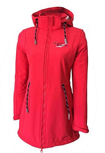 Dry Fashion Damen Softshellmantel Sylt No 2, Farbe:rot, Größe:38