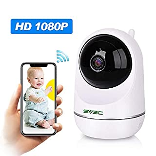 WiFi IP Camera Wireless 1080P Indoor, SV3C Home Surveillance Security Camera with Night Vision, Two-way Audio, Motion Tracking for Baby/Elder/Pet/Nanny Monitor, Cloud Service Available