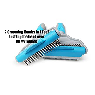 MyTopDog Dog Grooming Comb Pet Hair Remover | Deshedding & Dematting Comb for Dogs Short & Long Fur | Grooming Kit for… 8