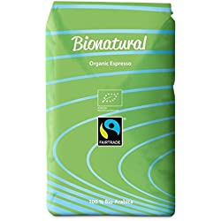 Bionatural Bio Fairtrade Kaffee-Espresso ganze Bohne by J. Hornig, 100 % Arabica, 1000 g