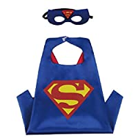 Blingbling Superhero CAPE & MASK SET Kids Childrens Halloween Costume Superman