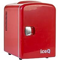 iceQ 4 Litre Small Mini Fridge Cooler - Red