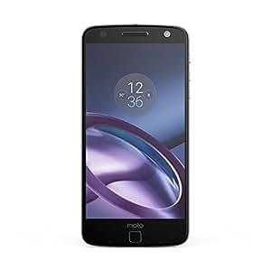 Lenovo Moto Z Smartphone, Dual SIM, Schermo 5.5 pollici Amoled Quad-HD 535 ppi, Fotocamera 13 MP, Processore Qualcomm® Snapdragon™ 820 con CPU Quad-core e supporto di GPU fino a 1,8 GHz, 4 GB di RAM, 32 GB di Memoria Interna espandibile fino a 2 TB, Nero [Italia]