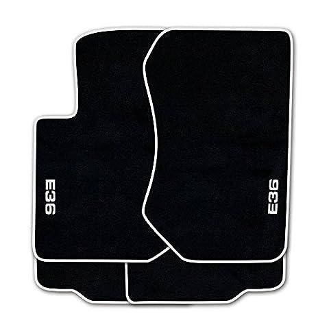 Stylers de tapis de sol en velours noir broderie «e36