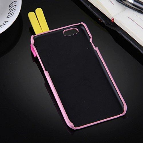 GHC Cases & Covers, 3D kleiner Teufel schützender rückseitiger Abdeckungs-Fall für iPhone 6 Plus u. 6s ( Color : Pink ) Pink