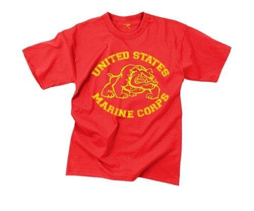 rothco-us-marines-bulldog-en-camiseta-61164-2x-rojo