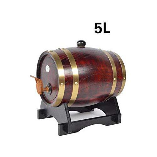 Las barricas de roble se utilizan para preservar vino, brandy, whisky, tequila, etc. Las bebidas en barricas de roble mejoran su sabor con el tiempo, gracias a las enzimas útiles producidas en las barricas.      Caracteristicas:   Hecho de roble d...