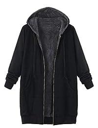 Vectry Rebajas Mujer Abrigo con Capucha Sudadera con Capucha Chaqueta con Capucha Abrigo De Peluche Sintético