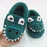 Lindas Zapatillas de Dibujos Animados para Niños Pequeños TOPKEAL Antideslizante Zapatos Algodón de Casa Cálida Azul