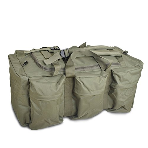 Herren Schulterriemen Tasche große Kapazität im Freien Wandern Rucksack im Freien Armeegrün