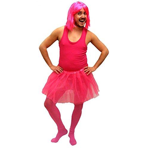 Disfraz Despedida de Soltero de Bailarina para hombre Fucsia