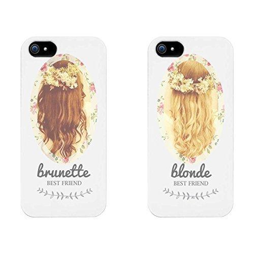 Cute BFF Téléphone cas–Brune Et Blonde Best Friends Housses pour iPhone 4, iPhone 5, iPhone 5C, iPhone 6, iPhone 6Plus, Galaxy S3, Galaxy S4, Galaxy S5, HTC One M8, LG G3Par mcsharks, coques iphone