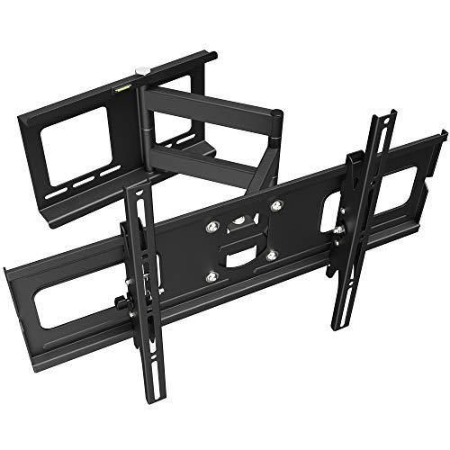 RICOO TV Wandhalterung R05 Universal für 40-75 Zoll (ca. 102-191cm) Schwenkbar Neigbar   Wand Halter Aufhängung Fernseh Halterung auch für Curved LCD & LED Fernseher   VESA 300x200 600x400   Schwarz