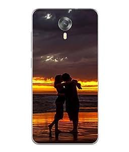 Snapdilla Designer Back Case Cover for Micromax Canvas Xpress 2 E313 (Water Lake Beach Women Man Sunset Nature)
